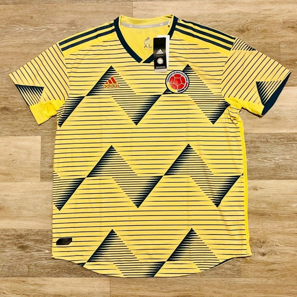 Adidas Other - Adidas Columbia 2019 Home Yellow Soccer Jersey